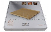 Whirlpool - Piastra in terracotta refrattaria universale - 350x345x41.5mm - 484000000276