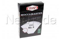 Moccamaster - Carta da filtro n. 4 (100 pz) - 85022
