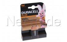 Duracell batteria alcalina mn1604 - 6lr61 - 9v - più 100% di vita - 12739