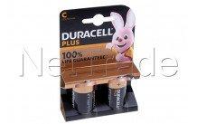 Duracell batteria  alcaline  mn1400 - lr14 - c - 1.5v - plus 100% live - bl.2pz - 12737