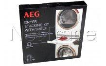 Aeg - Telaio d'installazione intermedio con piano di lavoro - skp11gw per lavatrice e asciugatrice - 9029797942