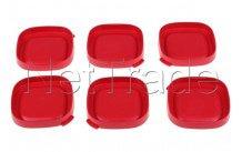 Seb - Coperchi di yogurt al quadrato rosso - 6 pezzi - SS1530000653