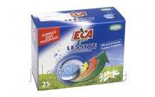 Eca - Pastiglie per lavatrice  25 pezzi senza fosfato
