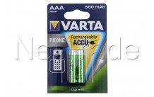 Varta - Batterij telefoon - aaa / hr03  550mah bls 2 t397 (aa - 58397101402