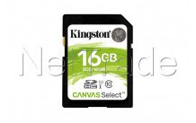 Kingston technology canvas select 16gb sdhc uhs-i klasse 10 flashgeheugen - SDS16GB