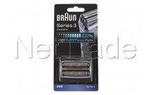 Braun - Cassetta di rasatura - seria 3 -32s - argento - 81633297