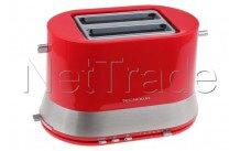 Tecnolux - Tostapane 2 fessure, rosso, potenza 820w - PT822SM1R