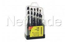 Cogex - Metal drill hss 1 x 10 mm - 19 pezzi - confezione scatola - 24217