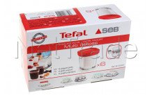 Seb - Vasetti di vetro per yogurtiera - set 6 pezzi - XF100501