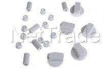 Universale - Kit di 5 pulsante bianco universale - 228600066