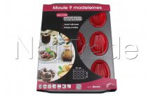 Crealys - Bakvorm 9 madeleines sweet 24 x 32cm silicone/staal - 511901