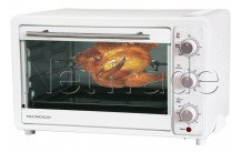 Tecnolux - Mini forno 33l 1600w bianco/inox - GT33RC01